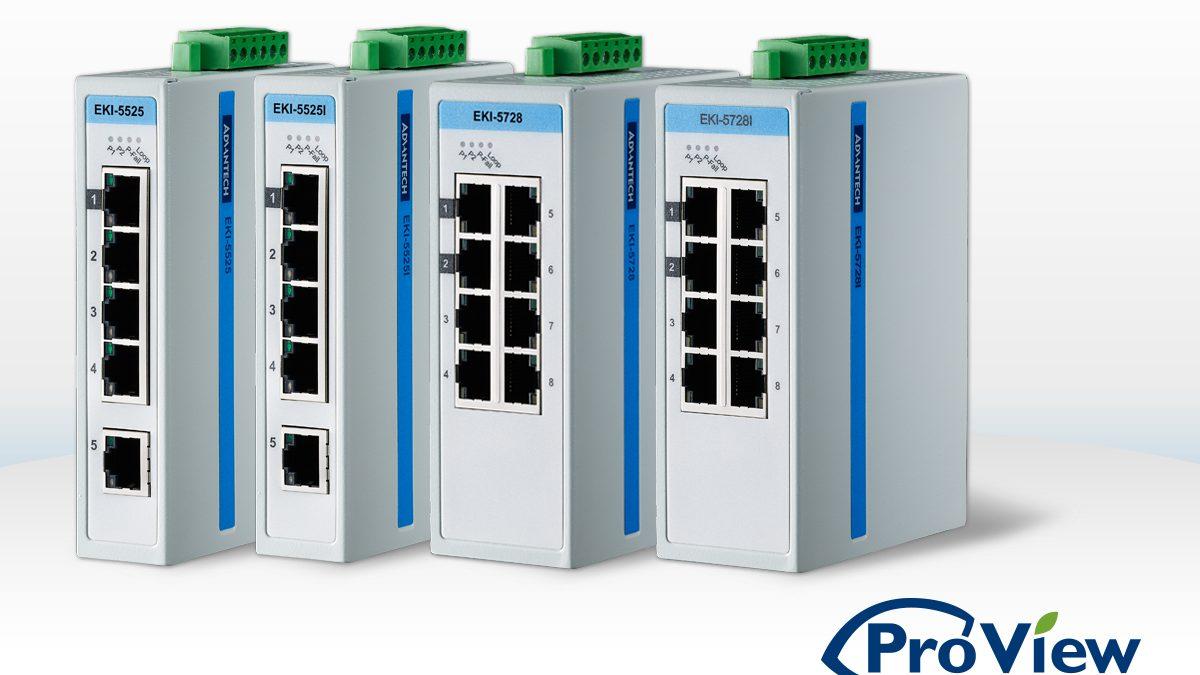 Advantech lance sa gamme de switchs industriels supervisables